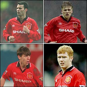 Giggs, Beckham, Neville and Scholes are sold